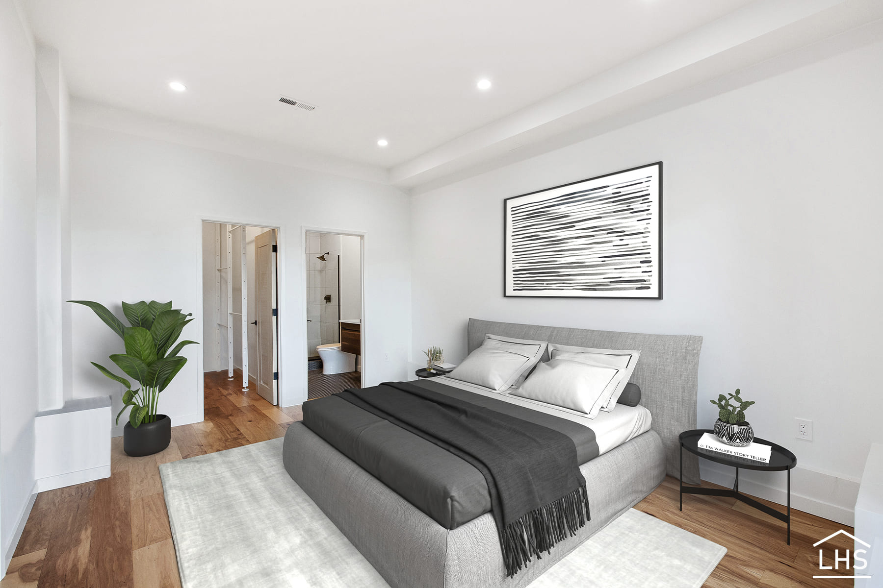 Minimalist style bedroom after